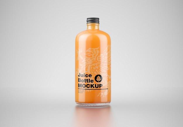 Mockup di bottiglia di succo d'arancia