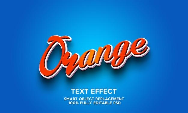Modello di effetto testo arancione