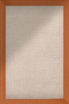 Cornice in pelle marrone arancio su tessuto marrone con texture vettoriale di bacgkround