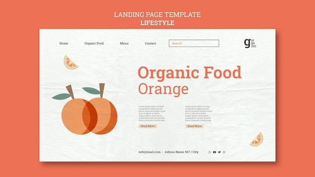 Modello web di alimenti biologici