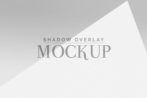Mockup di sovrapposizione shadow organico
