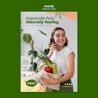 Modello di poster organicamente puro