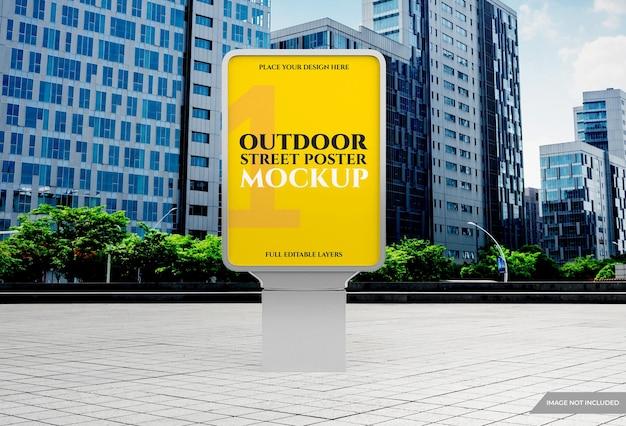 Mockup di poster pubblicitario leggero per esterni