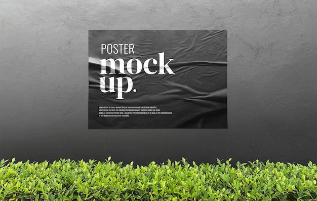 Mockup pubblicitario di poster per esterni