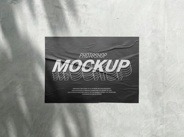 Mockup pubblicitario di poster con stampa esterna realistica