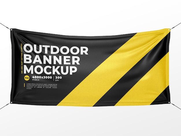 Mockup di banner in tessuto per esterni