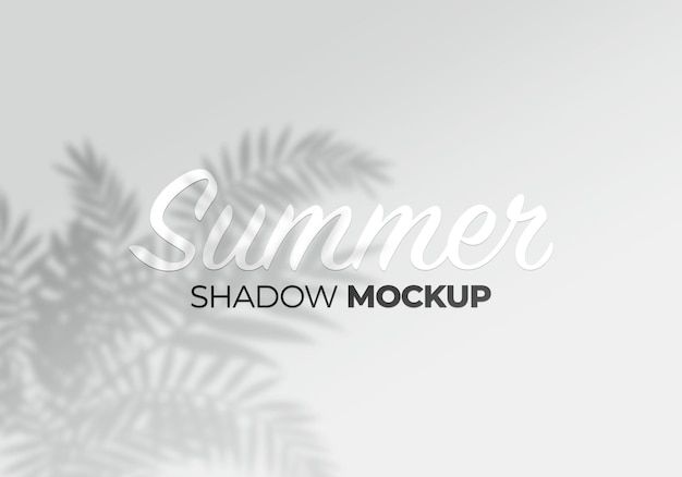 Modello di effetto ombra sovrapposto dello sfondo del prodotto tropicale