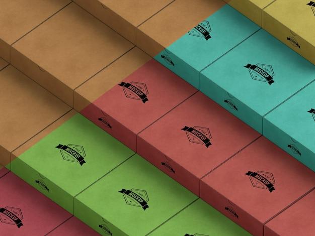 Mock-up della scatola di imballaggio Psd Premium