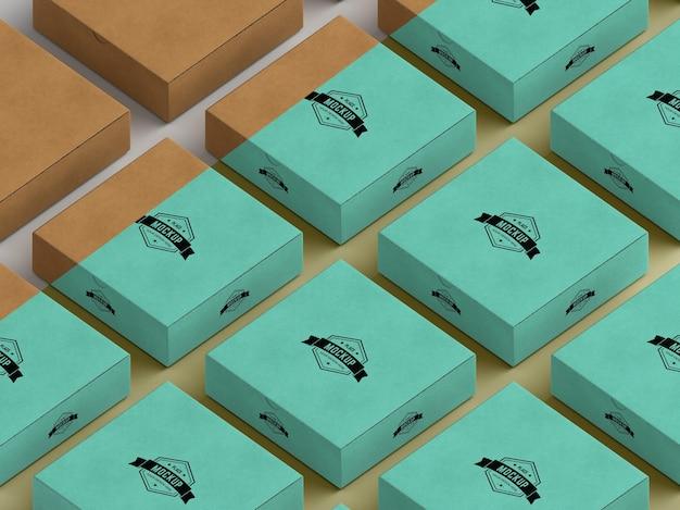 Mock-up della scatola di imballaggio