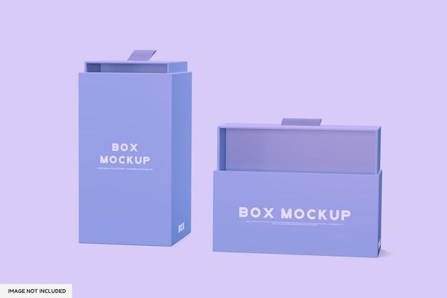 Mockup aperto della scatola di imballaggio