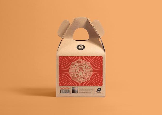 Mockup di scatola di cartone da imballaggio