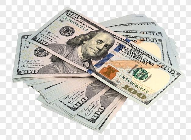 Pacchi di dollari isolati
