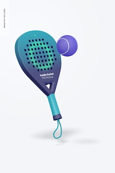 Paddle racket mockup, galleggiante