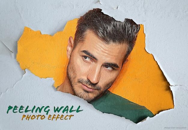 Dipingi l'effetto fotografico sulla superficie del muro scrostata mockup