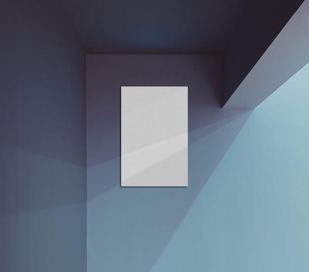 Mockup di pittura con sfondo blu