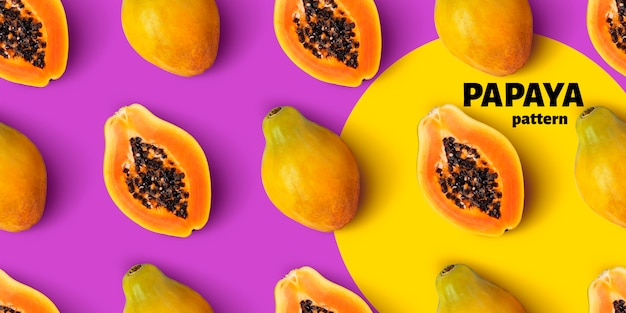 Reticolo senza giunte della frutta di papaia