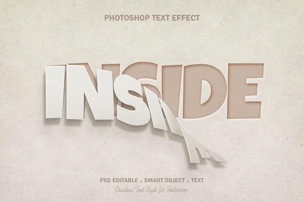 Disegno del modello di effetto di testo di arte di carta