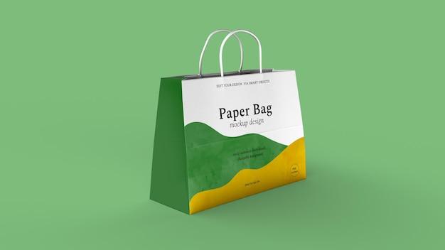 Mockup isolato di disegno del sacchetto di carta
