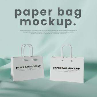 Mockup del sacchetto di carta