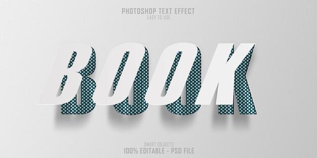 Modello di effetto stile testo libro di carta