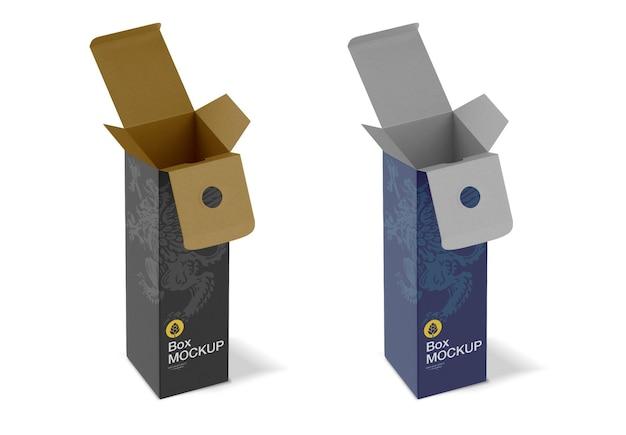 Scatola di carta per bottiglie mockup
