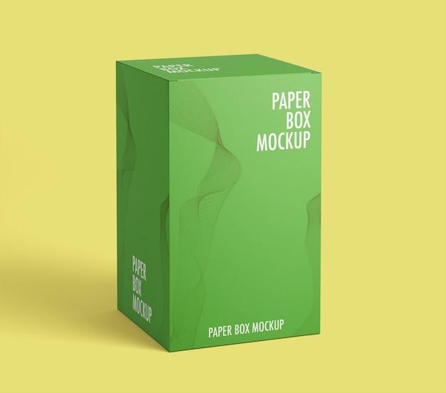 Mockup di scatola di carta