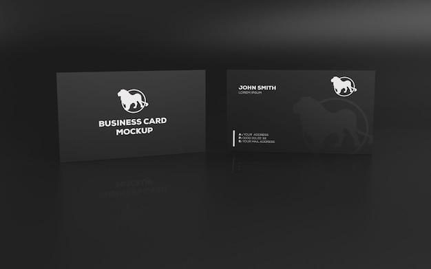 Progettazione di mockup di biglietti da visita in carta