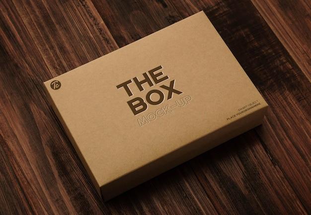 Design mockup di scatola di cartone di carta