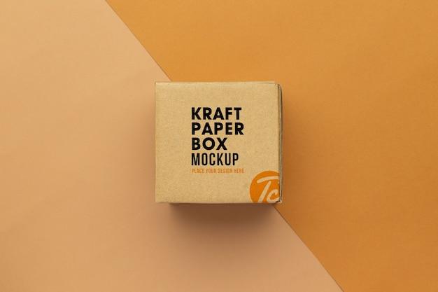 Mockup di scatole di cartone di carta