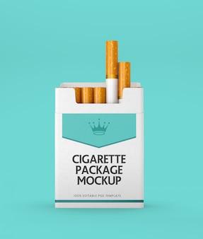 Mockup di pacchetto di sigarette di carta