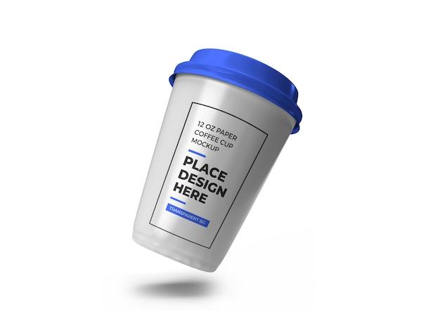 Carta tazza di caffè mockup isolato