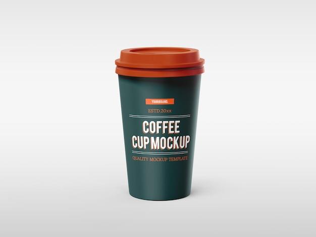 Modello di mockup di tazza di caffè in carta