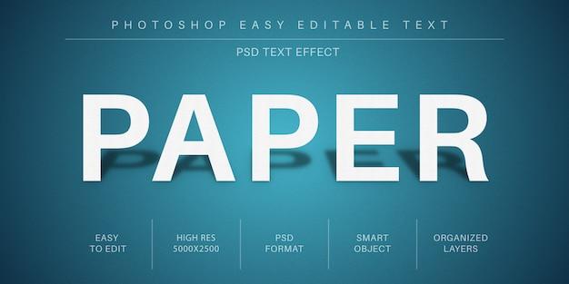 Effetto testo modificabile su carta, stile carattere
