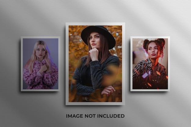 Mockup di foto con cornice di carta psd premium