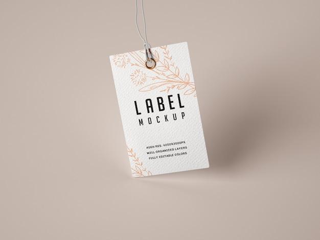 Mockup di etichette di carta
