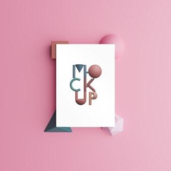 Mock-up di carta. rendering 3d