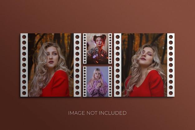 Modello di cornice per foto in carta psd premium