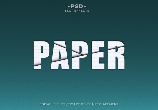 Modello di testo di effetti a fette di carta