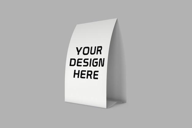Design mockup espositore da tavolo di carta