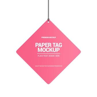 Mockup di tag di carta