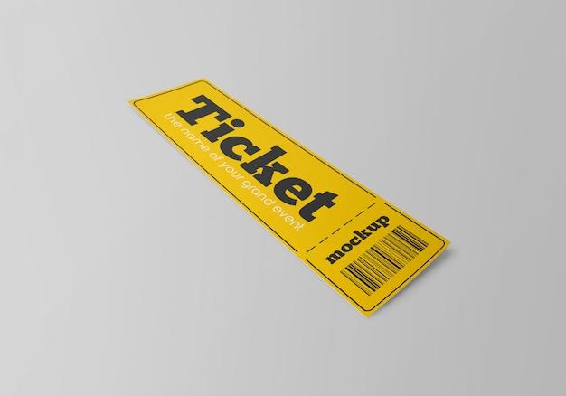 Mockup del biglietto cartaceo