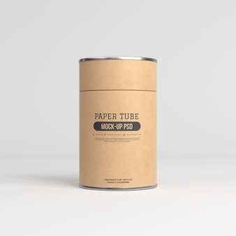 Mockup di tubo di carta