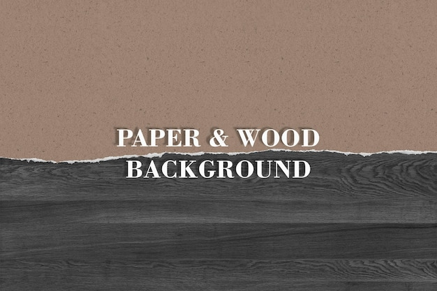 Sfondo di carta e legno