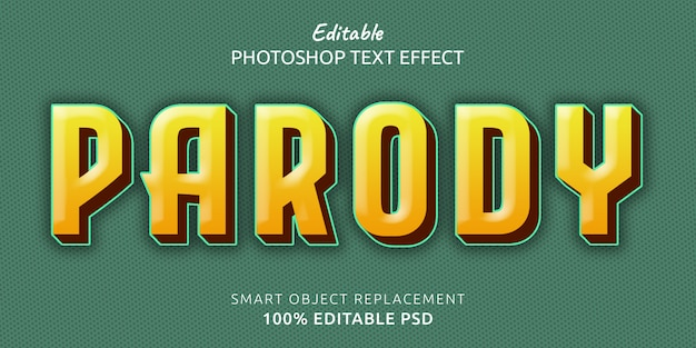 Modello di effetto di testo parodia