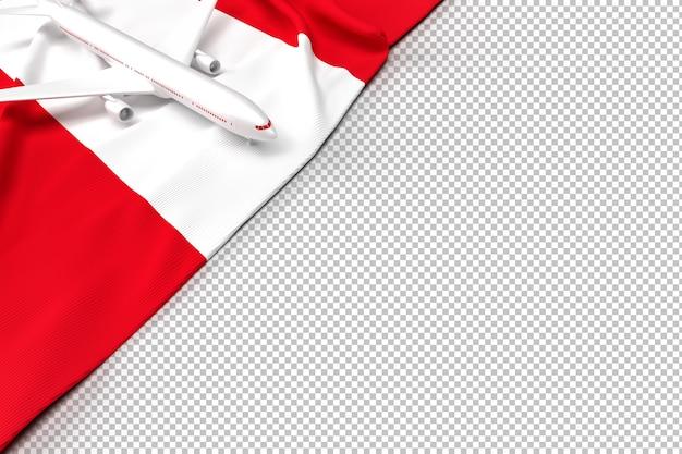 Aereo passeggeri e bandiera del perù