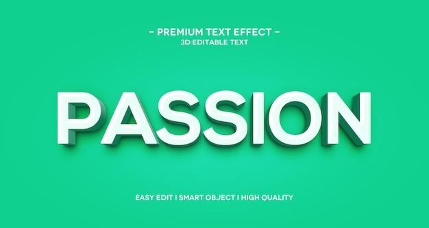 Modello di effetto di testo 3d passione