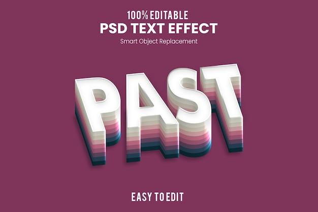 Effetto testo past3d