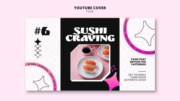 Modello di cibo art deco pastello-neon