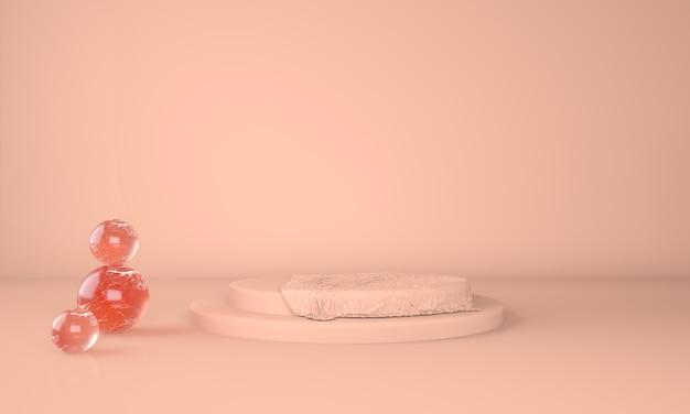 Rendering 3d piedistallo pastello