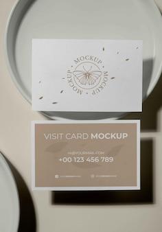 Mockup di biglietti da visita modello